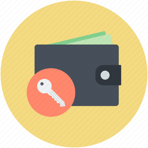finance protection, locked wallet, money security concept, wallet with key, wealth protection icon