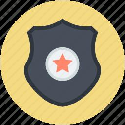 achievement, defense, guarantee symbol, star shield, success icon