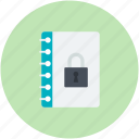 data security, diary, lock sign, privacy concept