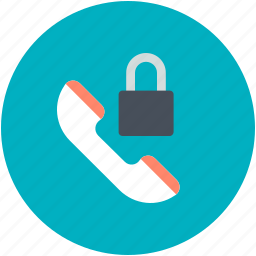 defense, lock sign, security system, telecommunication, telephone receiver icon