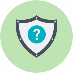 antivirus, question mark, question mark shield, shield, validation symbol icon