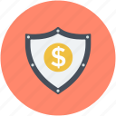 bank safety, dollar sign, financial security, safe banking, security shield