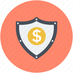 bank safety, dollar sign, financial security, safe banking, security shield icon