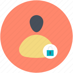 internet user, lock sign, male avatar, protected user, user password icon