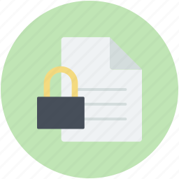 confidential, data encryption, data security, important files, informations icon