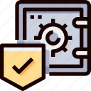bank, protection, safe, secure, security icon
