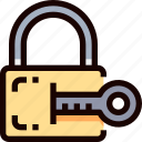 key, padlock, protection, secure, security icon