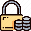 data, padlock, payment, protection, secure, security icon