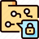 folder, lock, networking, padlcok, protection, secure, security icon