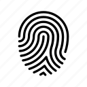 finger print, identity, pass, protection, scan, security icon