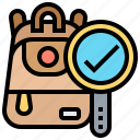 bag, lock, password, safety, security icon