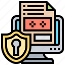 computer, data, protection, security, shield icon