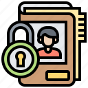 confidential, files, locked, private, secured icon