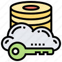 cloud, database, protection, save, sever icon