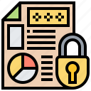 archive, classified, document, protected, security icon