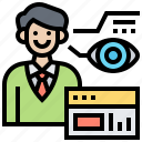access, eye, identity, scan, technology icon