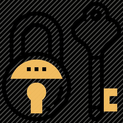 key, lock, padlock, protection, secure icon