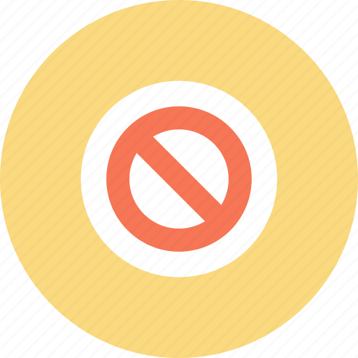 access, denied, deny, forbidden, prohibited, stop, warning icon