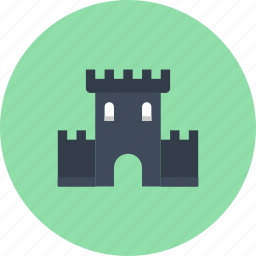 architecture, building, castle, fortress, history, protection, tower icon