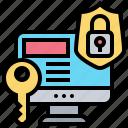 computer, lock, password, private, security