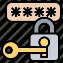 access, key, lock, password, unlock