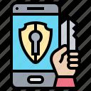 access, lock, password, security, smartphone