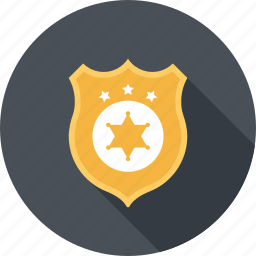 badge, justice, law, police, security, sheriff, star icon