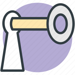 keyhole, keyhole with key, privacy, security, security equipment icon