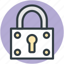 padlock, password, privacy, security, vintage lock icon