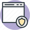 information security, internet site, online security, security shield, website security icon