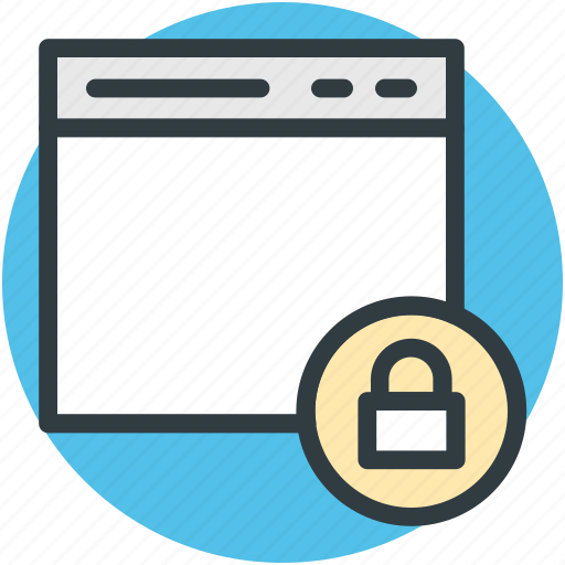 information security, internet site, online security, padlock sign, website security icon