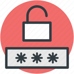 access granted, accessibility, password privacy, protection concept, unlock password icon
