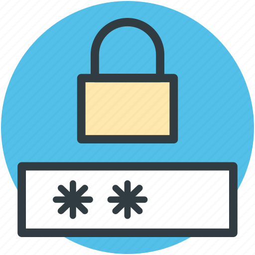access denied, digital security, locked password, password privacy, protection concept icon