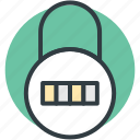 code lock, combination lock, padlock, password, security icon