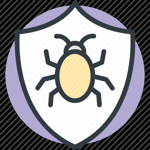 antivirus, antivirus protection, computer virus, internet bug, internet shield icon
