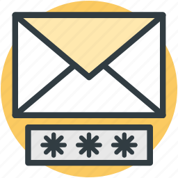 communication safety, digital security, email secret, email security, internet correspondence icon