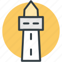 beacon, guidepost, lighthouse, pointer, signal