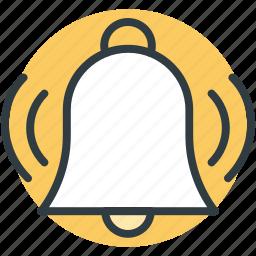 alarm bell, bell ringing, mobile ui, morning alarm, web ui icon