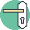 door handle, doorway, entry, keyhole, locked icon