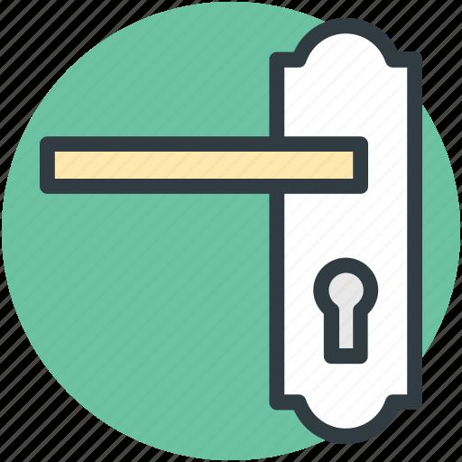 door handle, doorway, entry, keyhole, locked icon