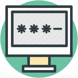 computer password, computer security, digital protection, login, privacy icon