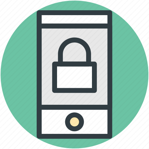 access denied, data security, defense, mobile lock, mobile phone, phone safety icon