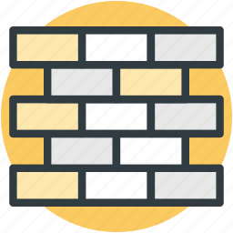 blocks, bricks, firewall, protection, security wall icon