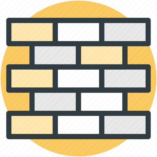 blocks, bricks, firewall, protection, security wall icon