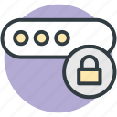 digitally lock, information password, keyword, password protection, password security icon