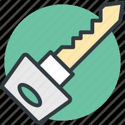 key, lock, protection, retro key, safety icon