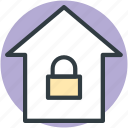 home, home security system, lock sign, locked home, privacy
