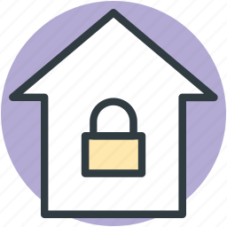 home, home security system, lock sign, locked home, privacy icon