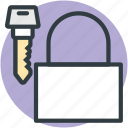 security elements, padlock, protection, secure, key