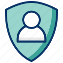 profile photo, protected profile, protected user account, protection, secured profile, secured user account icon